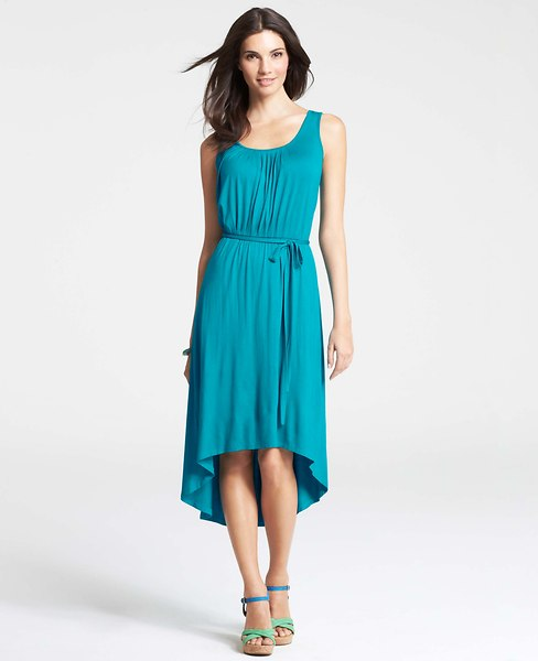 Ann Taylor Petite High Low Hem Tank Dress $108