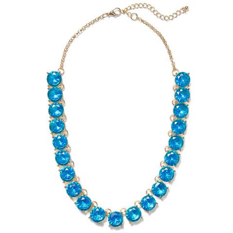 Electronic Blue Gems Collar $25