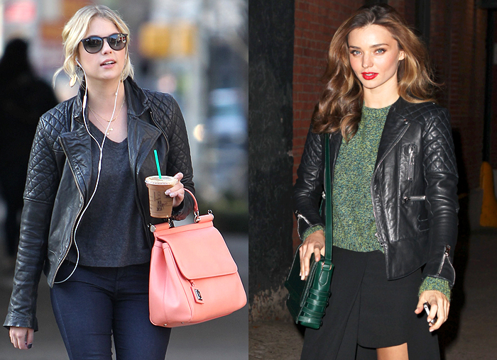 On Trend And Popular With Celebrities The Moto Jacket Style Assisted
