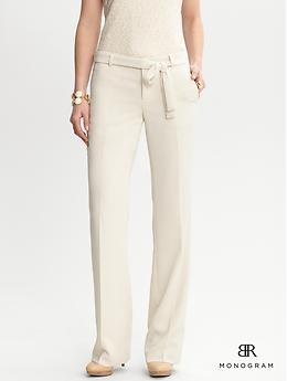 Banana Republic BR Monogram belted wide-leg pant $120