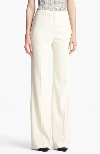 Escada 'Colombo' White Wide Leg Pant $795