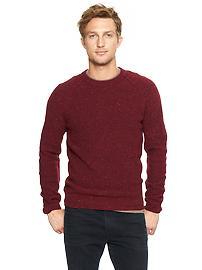 Lambswool tweed sweater - burgundy