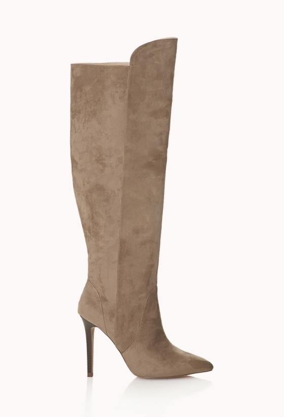 Forever 21 Sleek Over the Knee Boots $45