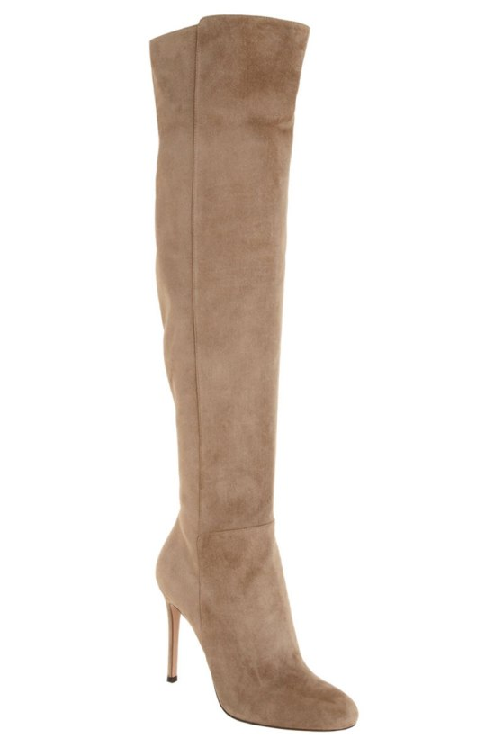 Gianvito Rossi Suede Over the Knee Boot, $1,570