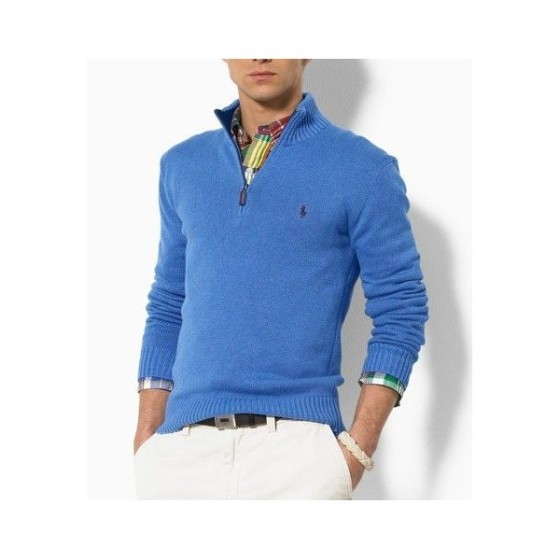 men-s-polo-ralph-lauren-cotton-half-zip-sweater-in-blue