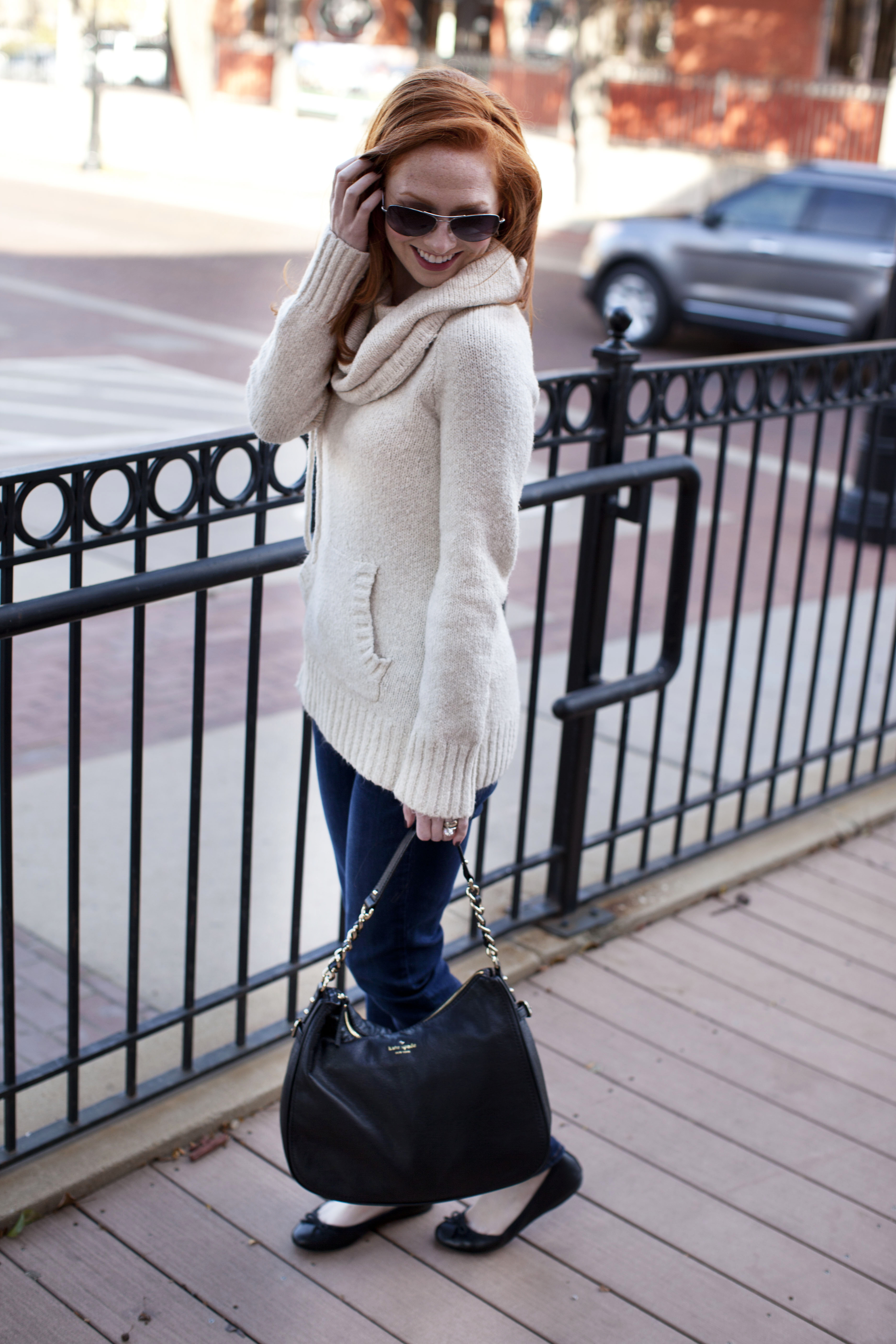 Outfit Of The Day: Cream Sweater