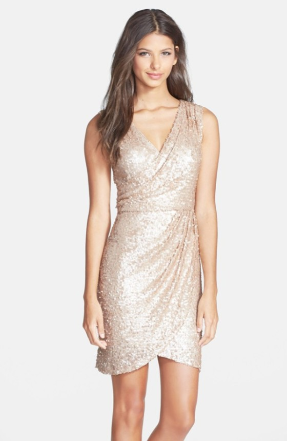 Sequin Wrap Dress $149