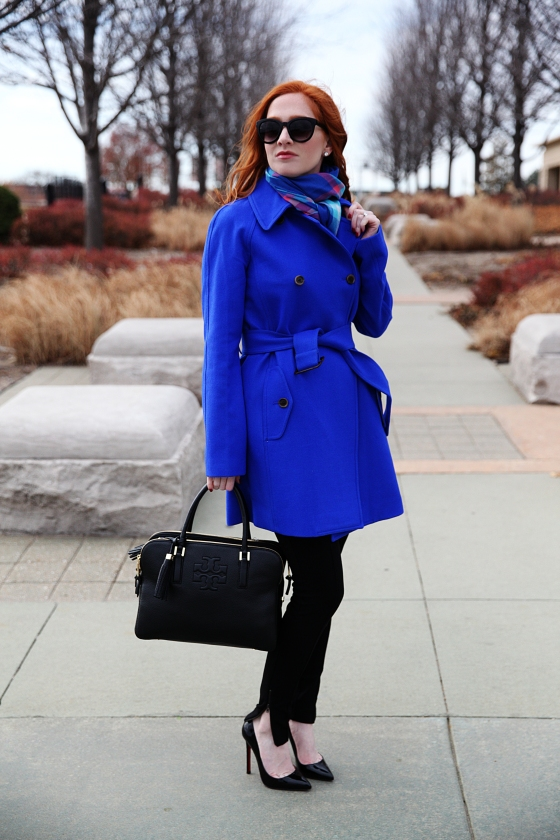 283ed188f99 Outfit of the Day: Blue Coat - Style Assisted